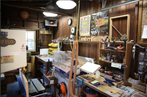 Dom Peralta's garage/maker space/factory